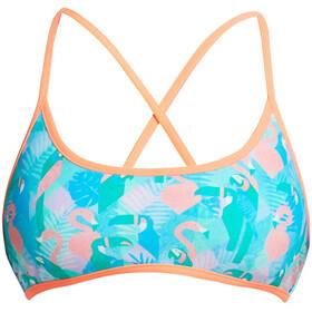 Funkita Cross Back Tie Bikini Top Dames, pastel paradise